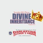 November 2015 Theme - Divine Inheritance