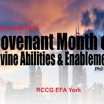 Covenant Month of Divine Abilities and Enablement  Phil 4:13