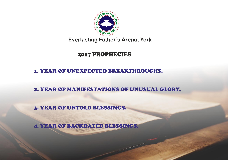 RCCG EFA York 2017 Prophecies