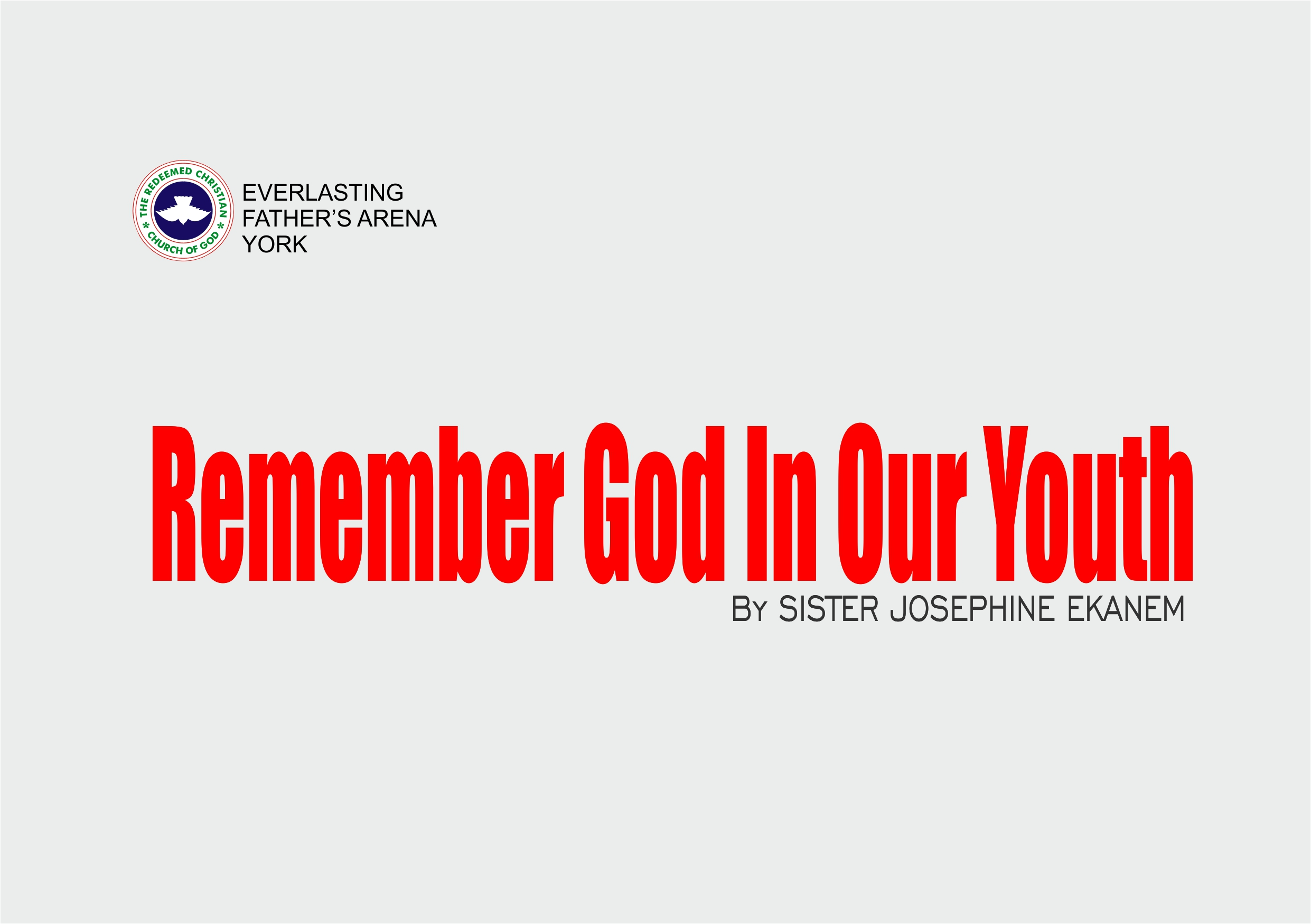 Remember God in our Youth, By Sister Josephine Ekanem