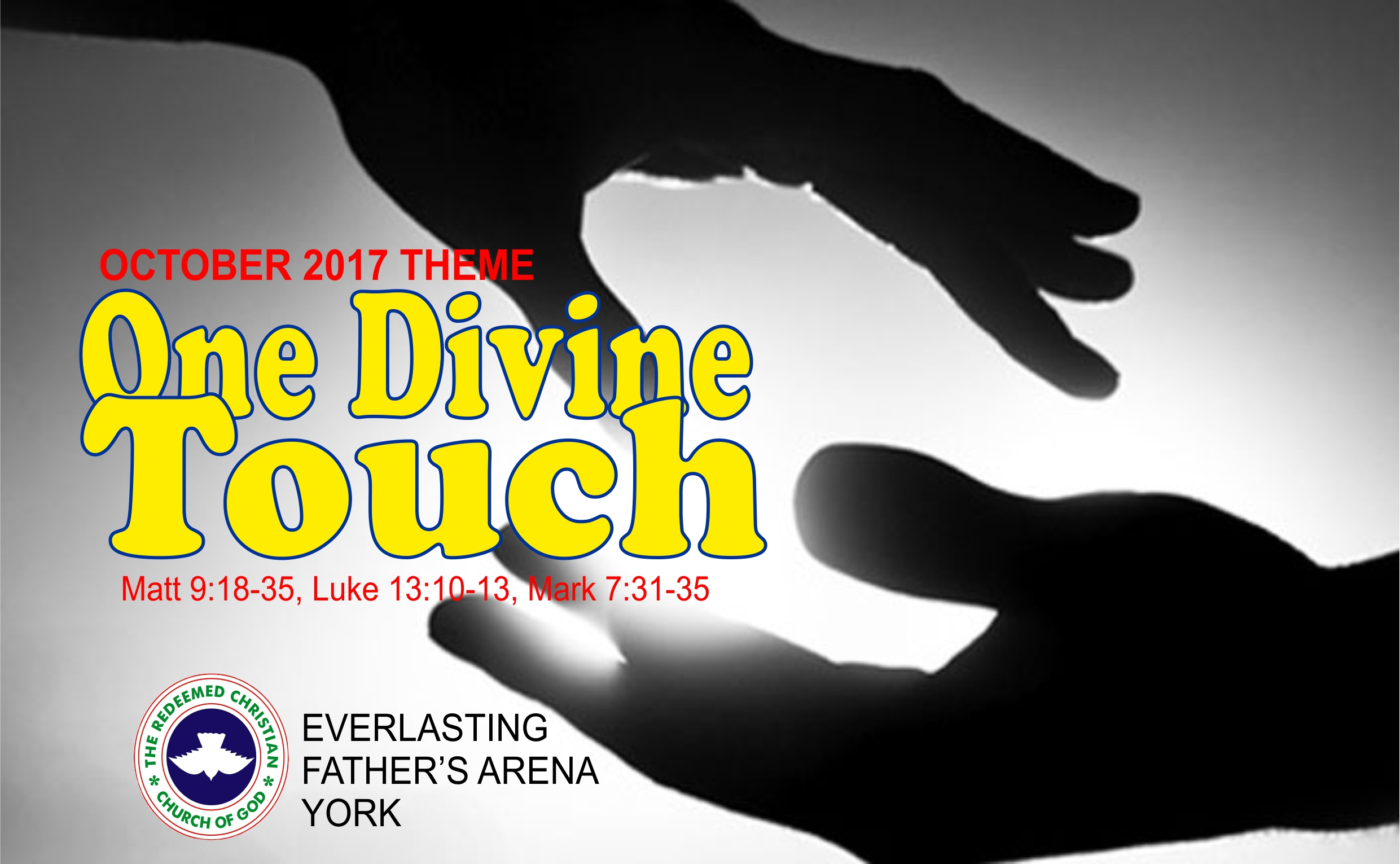 October 2017 Theme – One Divine Touch
