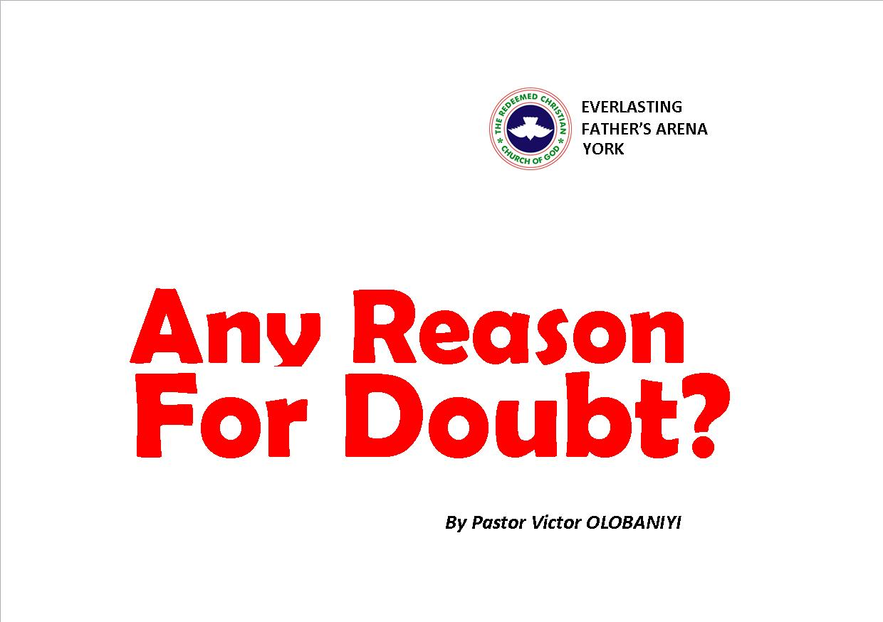 Any Reason For Doubt?, by Pastor Victor Olobaniyi