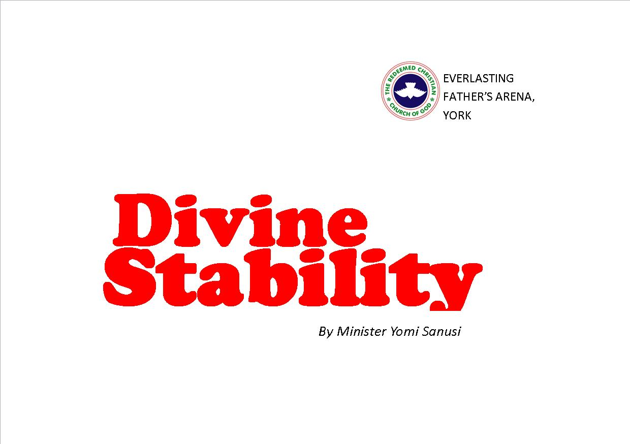 Divine Stability, by Minister Yomi Sanusi