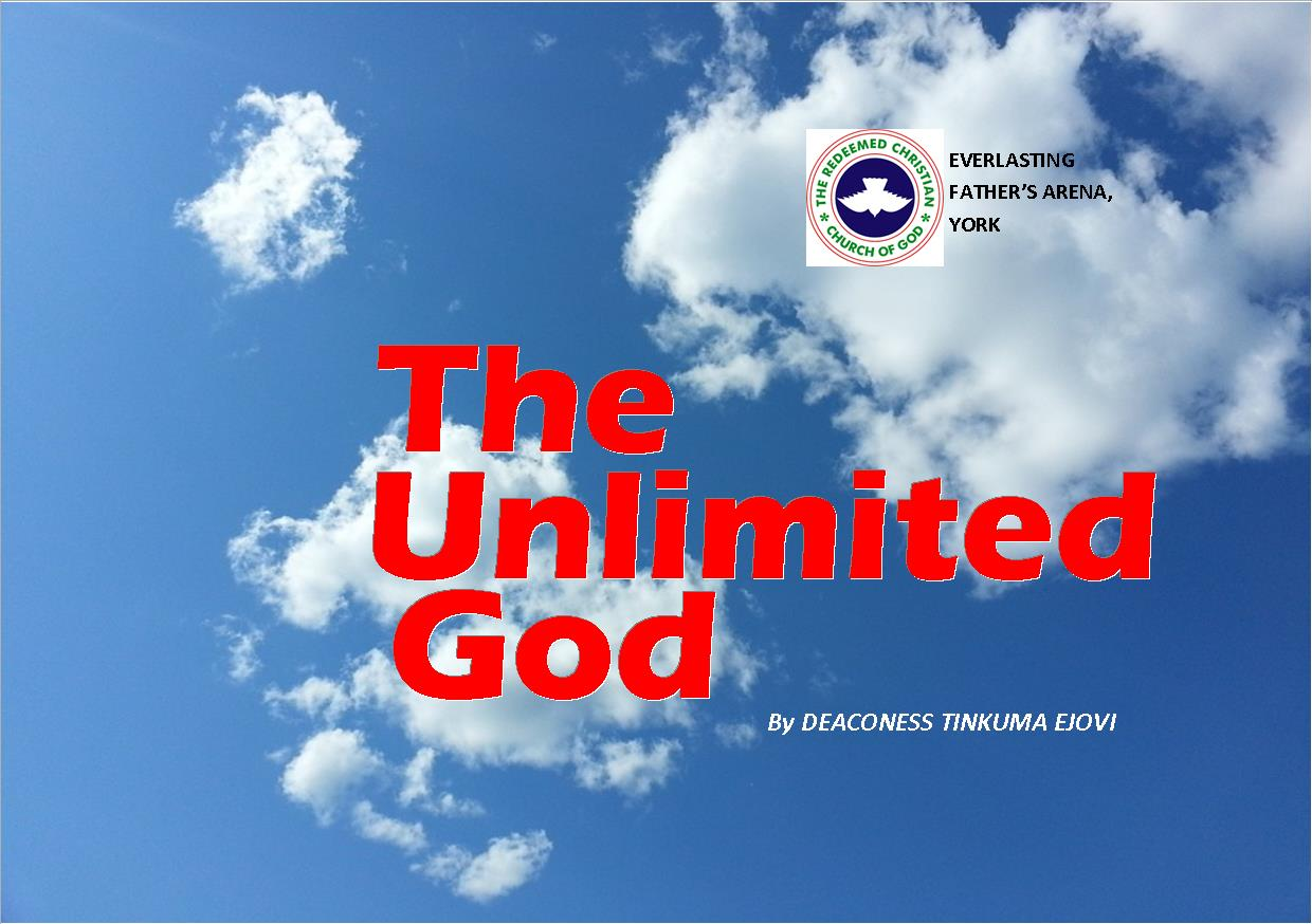 The Unlimited God, by Deaconess Tinkuma Ejovi